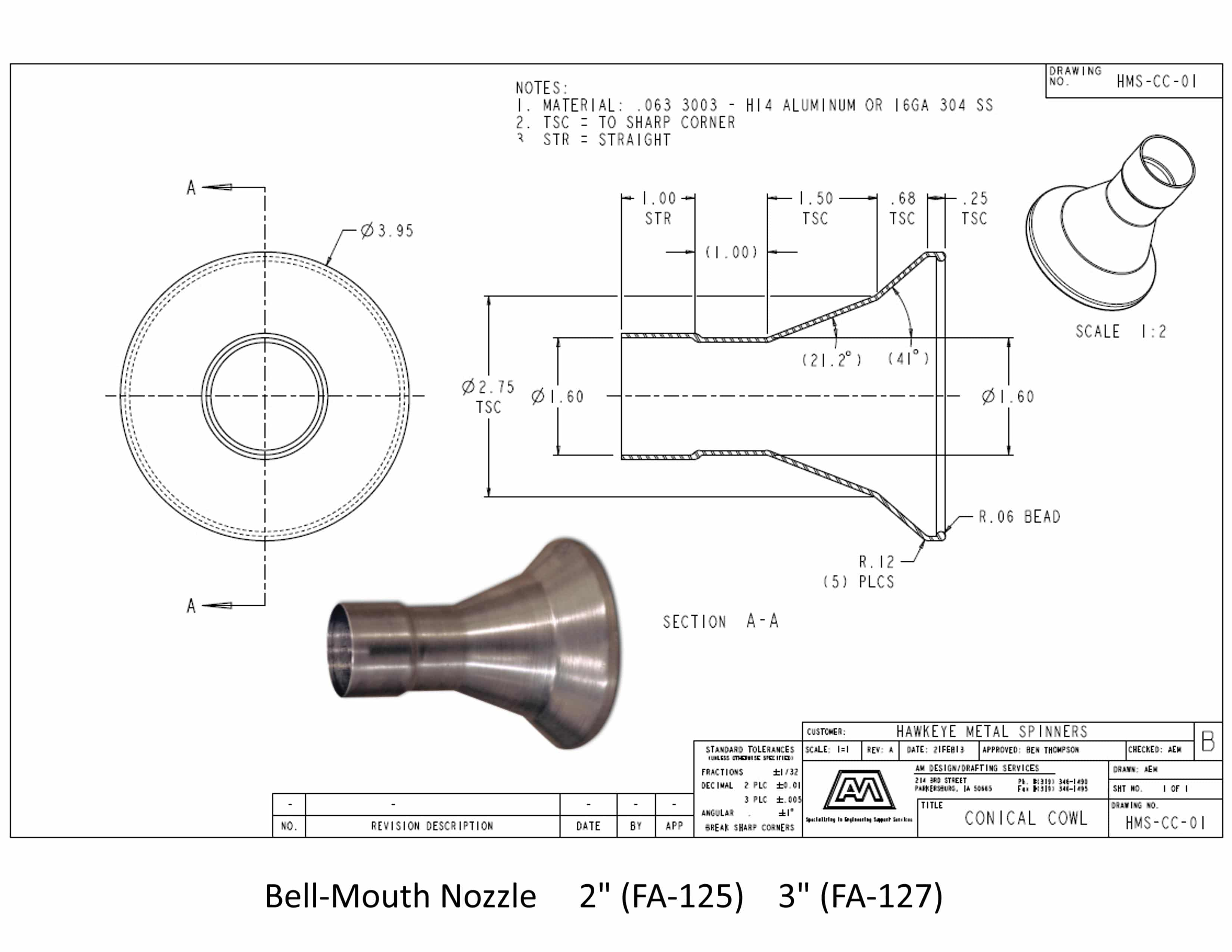 Bell-Mouth Nozzle | Fumex, Inc.
