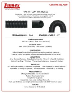 HOSES FOR FUME AND DUST EXTRACTION
