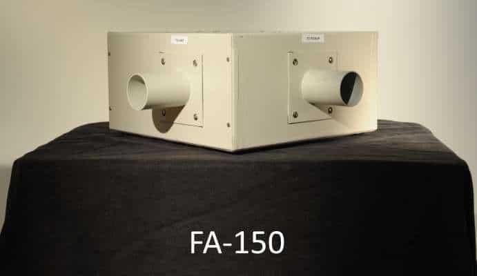 spark arrestor or spark trap for fume extractor
